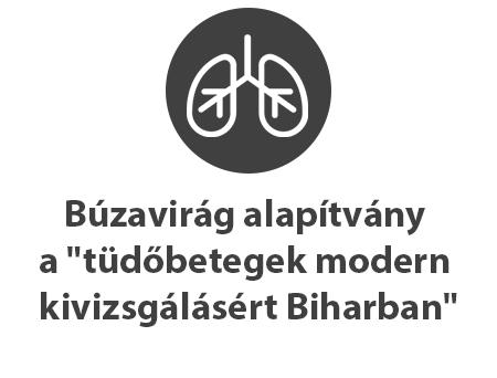 """Búzavirág alapítvány a """"tüdőbetegek modern kivizsgálásért Biharban"""""""